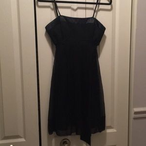 Black strapless BCBG Max Azria dress